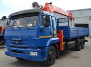 КАМАЗ-65117-6010-78 с крано-манипуляторной установкой за кабиной Kangl
