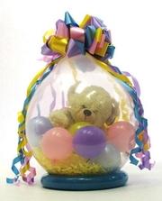 Упаковка подарка в шар (8 марта)