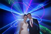 Свадебное лазерное шоу.