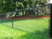 Забор из сетки-рабицы (натяжного и секционного типа)